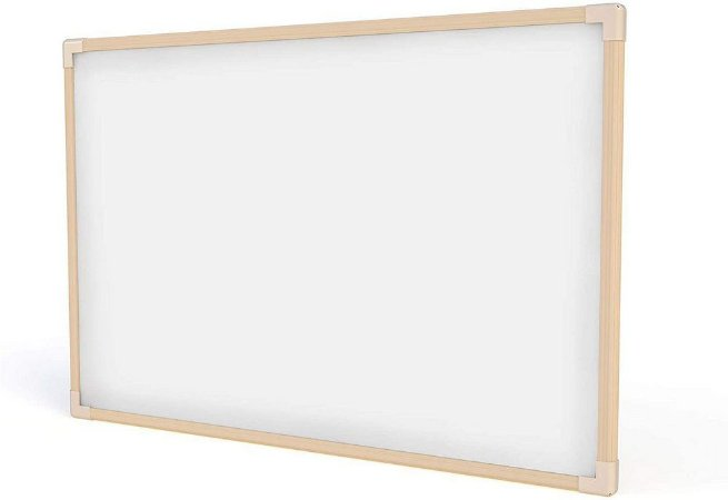 Quadro Branco Madeira 120X90Cm Stalo