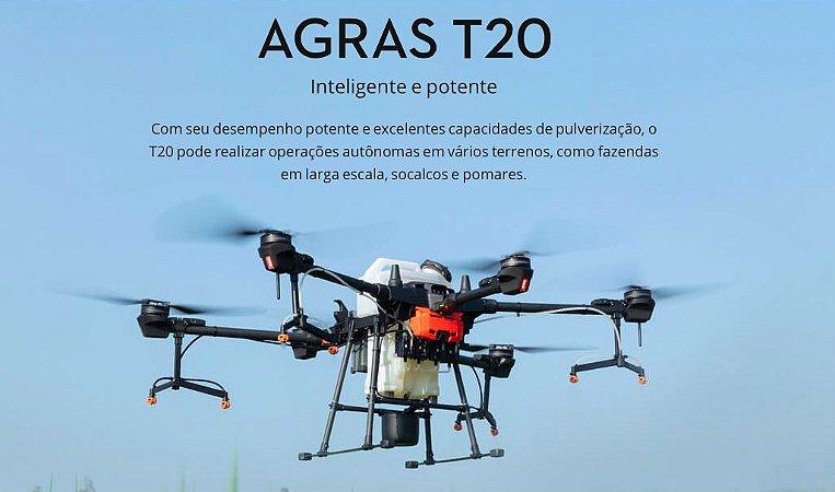 DJI Agras T20 (Kit com carregador múltiplo inteligente e 4 baterias)