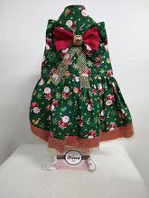 Vestido Natal Top Duplo com Tela