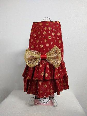 Vestido Natal Saia Dupla c/ Top Mima Pet