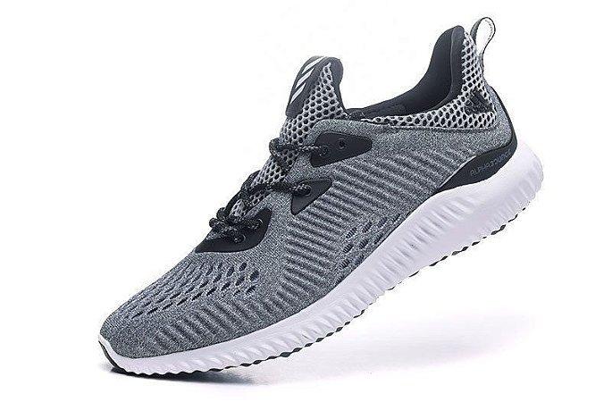 Tênis Adidas AlphaBounce EM - Masculino - Cinza e Branco