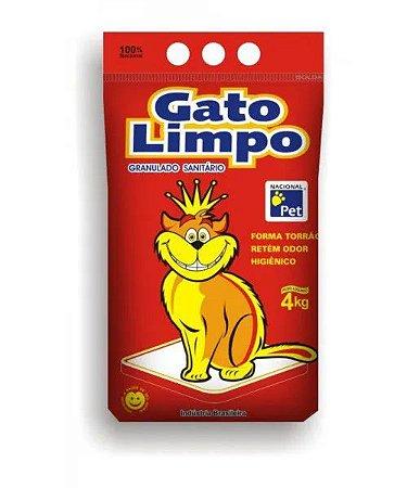 Granulado sanitário para gato - Gato Limpo 4kg