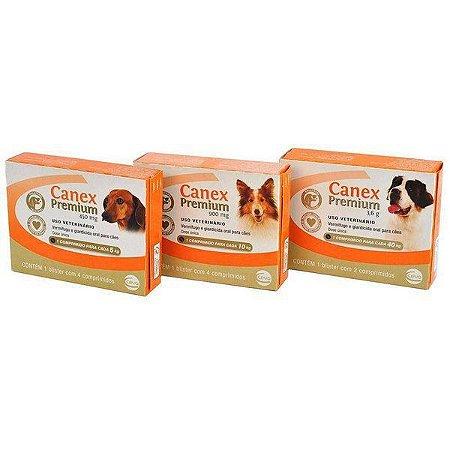Canex Premium Vermifugo e Giardicida 4 comprimidos