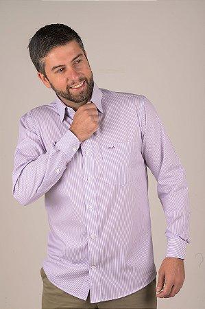 Camisa Listrado - Manga Longa Tradicional | Fio 70