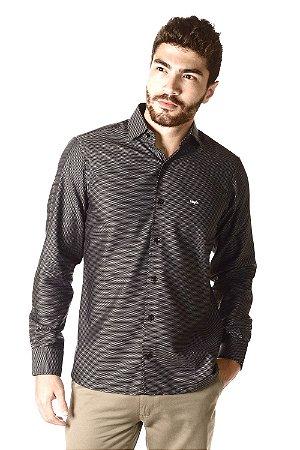 Camisa - Manga Longa Slim   Algodão 100% - Fio 100