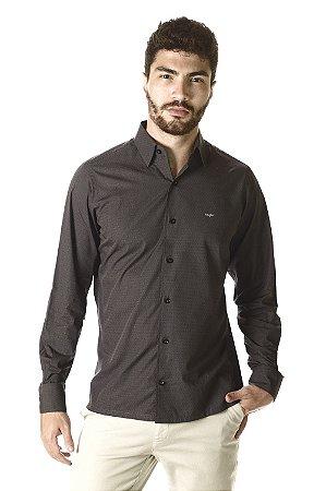 Camisa - Manga Longa Slim | 100% Algodão - Fio 60