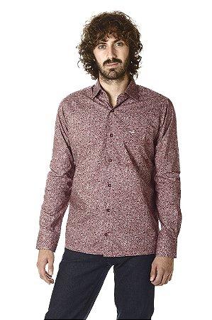 Camisa - Manga Longa Slim | 100% Algodão - Fio 60 | Colarinho Semi-italiano