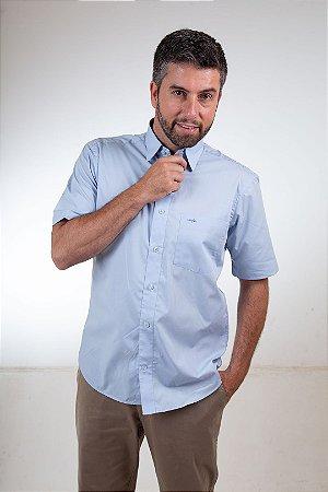 Camisa Tradicional Lisa - Manga Curta | Algodão Fio 50