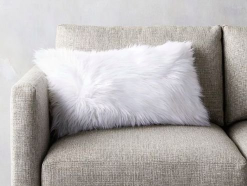 Almofada Fluffy Pillow Retangular - Snow