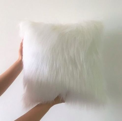 Almofada Fluffy Pillow - Snow