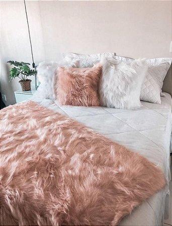 Almofada Fluffy Pillow - Rose Gold