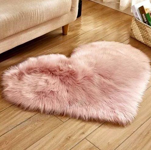 Tapete Fluffy Coração