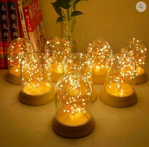 Luminária Luz de Fada - Rosé Gold