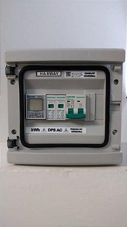 Quadro Auxiliar CA 25A — IP65 — c/ medidor digital de energia