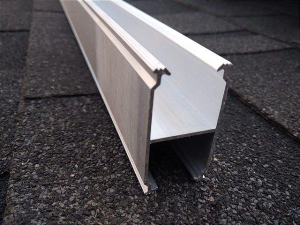 Perfil ES066 Alumifix Solar - montagem H com 2,2 metros cada - cj. com 2 perfis para 2 módulos em retrato