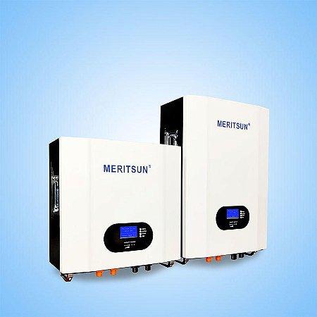 Bateria Solar Lítio PowerWall - Meritsun - LFP100-48 48Vcc 150Ah - 7,2kWh - LiFePO4 - 6000 ciclos