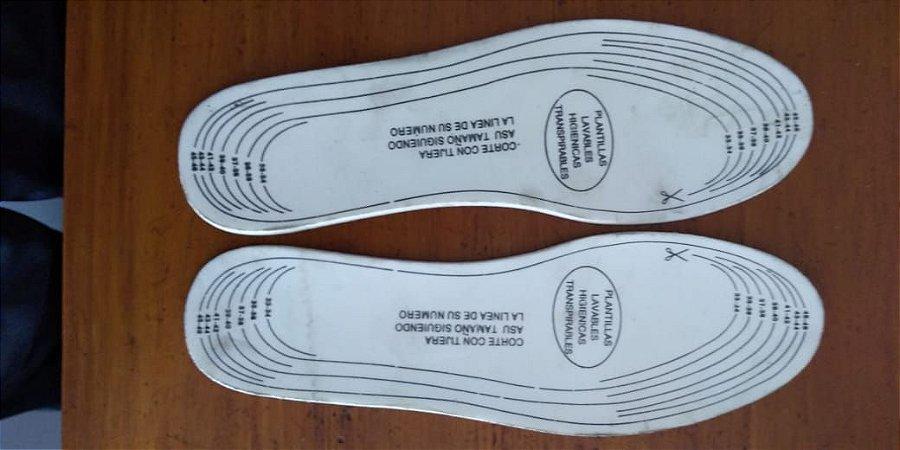 Lote 100 Pares de Palmilhas Universal Conforto - Marcação para recorte.