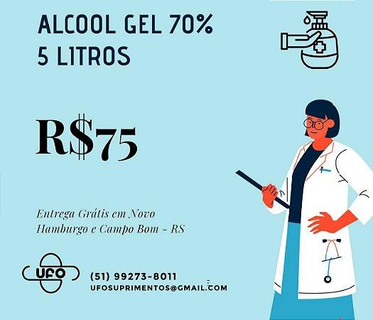 Álcool GEL 70% - Bombona 5 lts