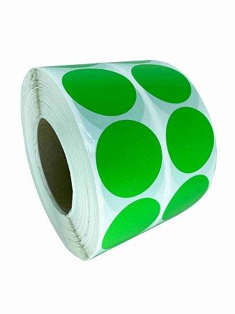 -Etiqueta 5x5/2 Rolo c/ 5000 Verde