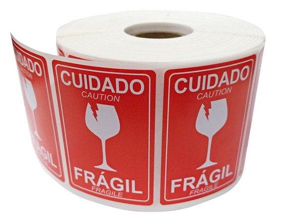 -Etiqueta Frágil 60x40 mm c/ 1000
