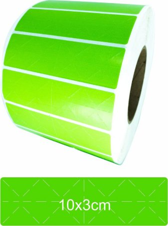 -Lacre para Personalizar 10x3 Verde Rolo C/3000