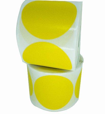 -Etiqueta 6,5x6,5/1 Rolo C/500 Amarelo