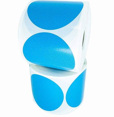-Etiqueta 6,5x6,5/1 Rolo C/500 Azul