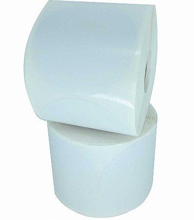 -Etiqueta 6,5x6,5/1 Rolo C/500 Branco