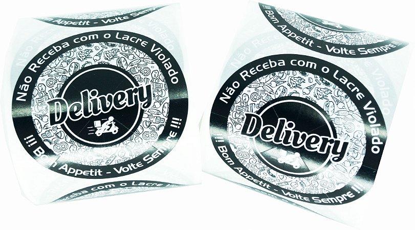 -Lacre Delivery Redondo 6,5x6,5/1 Rolo C/500 Preto