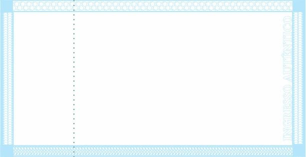 -Ingresso Couche Simples 95x48mm Azul