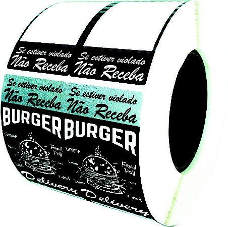 -Lacre para Delivery 16x5cm  Burger c/1000un