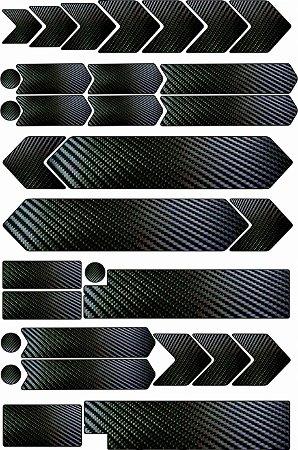Adesivo protetor para quadro de Bike Universal Fibra Carbono