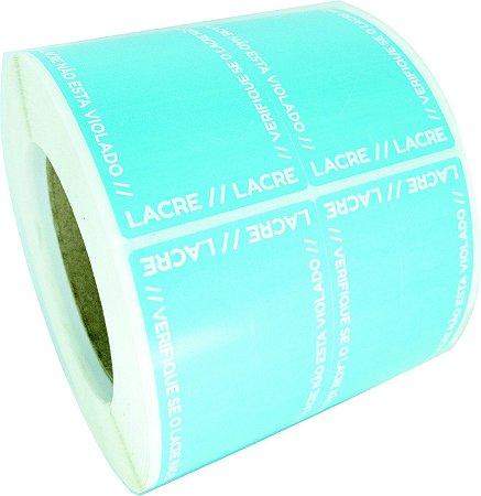 Lacre Delivery Para Personalizar 12x5 Azul C/ 1.000un