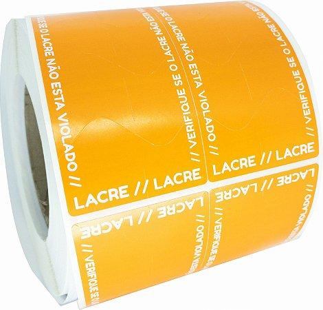 Lacre Delivery Para Personalizar 12x5 Laranja C/ 1.000un