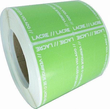 Lacre Delivery Para Personalizar 12x5 Verde C/ 1.000un