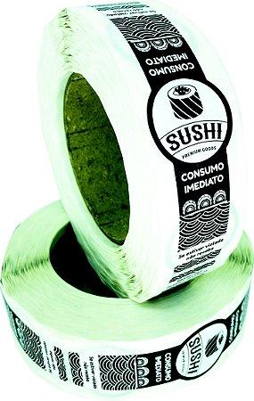 -Lacre para Delivery 12x3 Sushi Rolo c/500