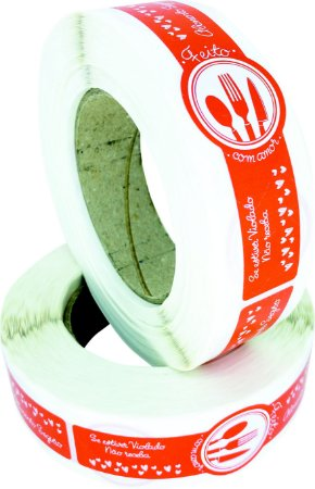 -Lacre para Delivery 12x3 Talheres Rolo c/500