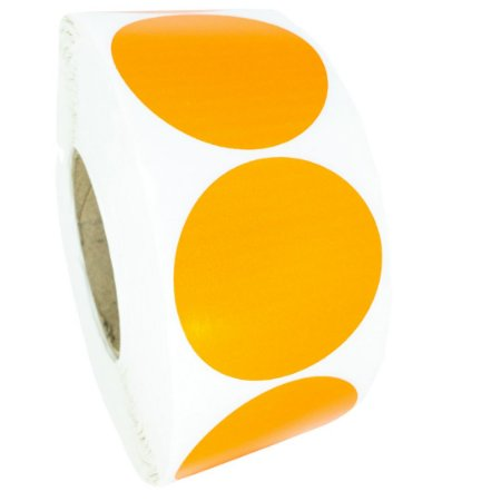 -Etiqueta 6,5x6,5/1 Rolo C/2000 Laranja