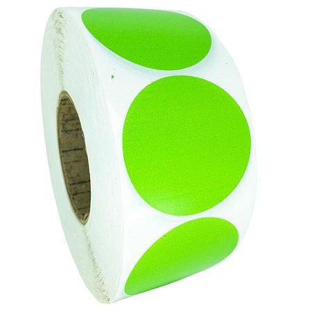 -Etiqueta 6,5x6,5/1 Rolo C/2000 Verde
