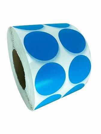 -Etiqueta 5x5/2 Rolo c/ 5000 Azul