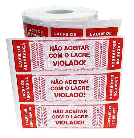 -Lacre para Delivery 10x3 Vermelho Rolo c/1000