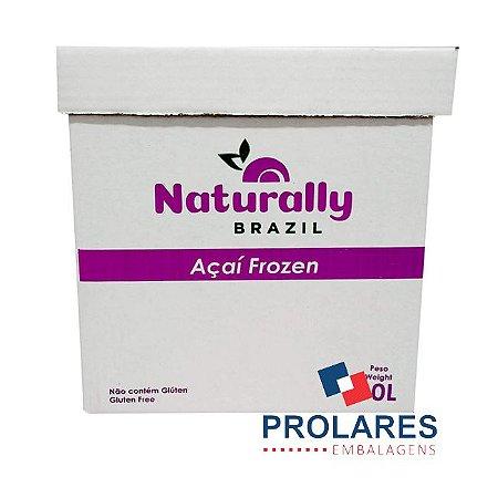Caixa de Papelão Personalizada - Naturaly Açaí - 10 Litros