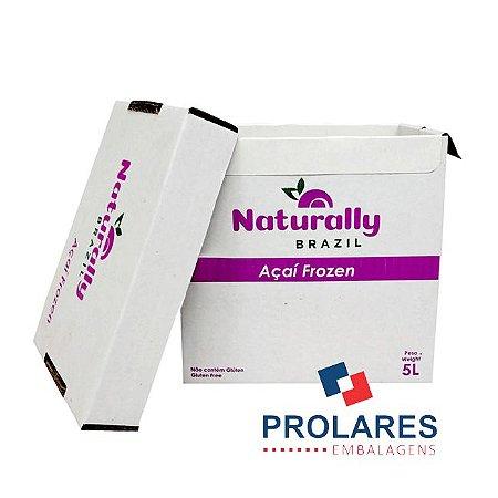 Caixa de Papelão Personalizada - Naturaly Açaí - 5 Litros