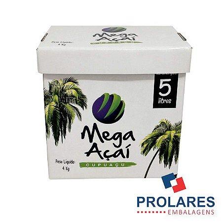 Caixa de Papelão Gráfica - Mega Açaí - 5 Litros