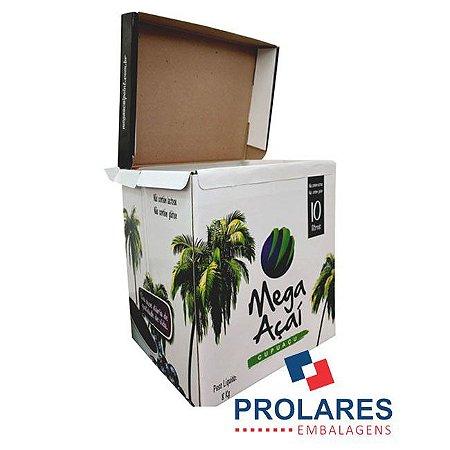 Caixa de Papelão Gráfica - Mega Açaí - 10 Litros