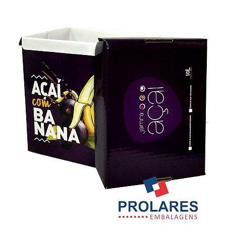 Caixa de Papelão Gráfica - Jamra Açaí