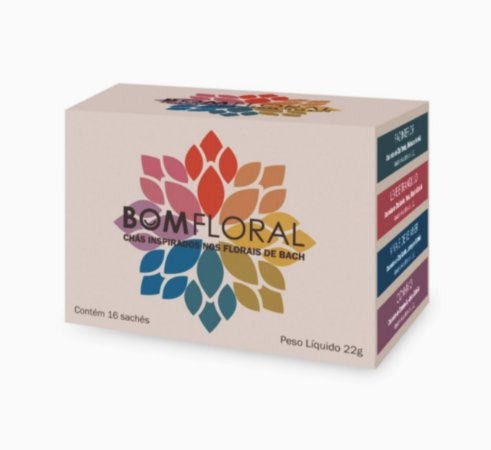 Caixa de Chá Mix BomFloral 16 Sachês