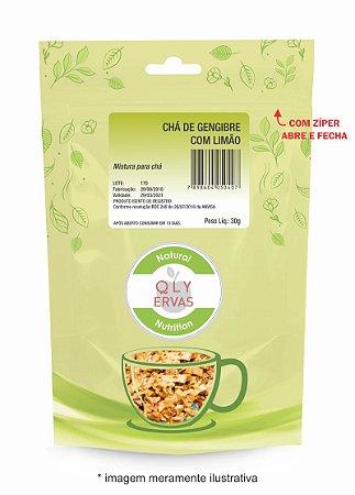 Pacote Chá de Gengibre Com Limão Qly Ervas 30g