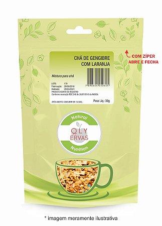 Pacote Chá de Gengibre com Laranja Qly Ervas 30g