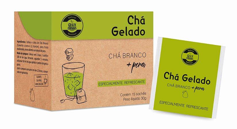 Chá Gelado Chá Branco + Pêra